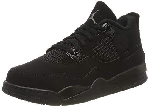 Nike Jordan 4 Retro (PS) Basketballschuh, Black Black Lt Graphite, 31.5 EU