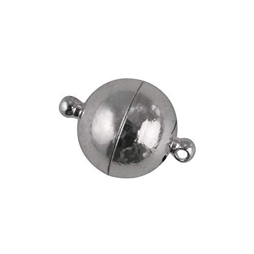 RAYHER 2216721 Edelstahl Magnetschließe, 10 mm Durchmesser, SB-Beutel 1 Stück, platin
