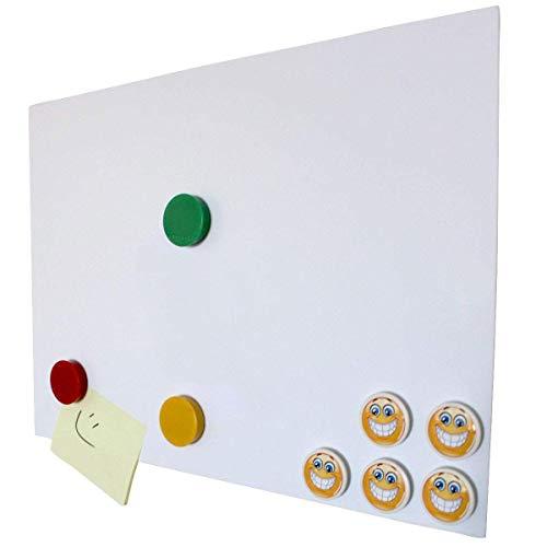 DIN A3 Ferrofolie selbstklebend Magstick® I Eisenhaltige Folie weiß beschichtet, diy I Flexibler Haftgrund für Magnete I mag_007