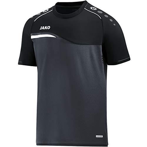 JAKO Herren T-shirt Competition 2.0, anthrazit/schwarz, L, 6118