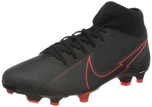Nike Unisex Superfly 7 Academy FG/MG Football Shoe, Black/Black-Dark Smoke Grey-Chile Red, 44.5 EU