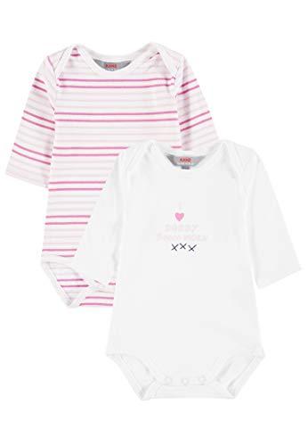 Kanz Baby-Mädchen 2er Pack Body 1/1 Arm Bekleidungsset, Mehrfarbig (2 Pack Multicolored 8012), 68