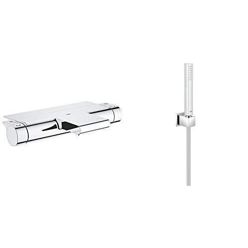 GROHE Grohtherm 2000   Thermostat-Wannenbatterie, mit Absperrung und Mengenregulierung & Euphoria Cube   Brausen- und Duschsysteme - Handbrause   mit Wandhalter, 1 Strahlart