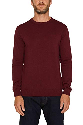 ESPRIT Herren 999Ee2I803 Pullover, Rot (Dark Red 610), Large (Herstellergröße: L)