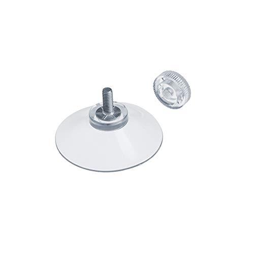 DIYexpert® 4 x Saugnapf Ø 40 mm mit Gewinde M4x10mm inkl. Rändelmuttern transparent - Made in Germany