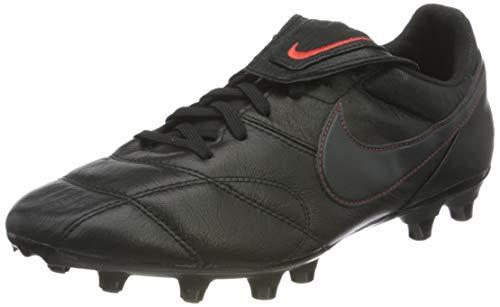 Nike Unisex Premier II FG Football Shoe, Black/Dark Smoke Grey-Chile Red, 41 EU