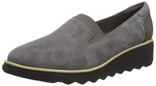 Clarks Damen Slipper, Grau (Grey Suede), 41.5 EU