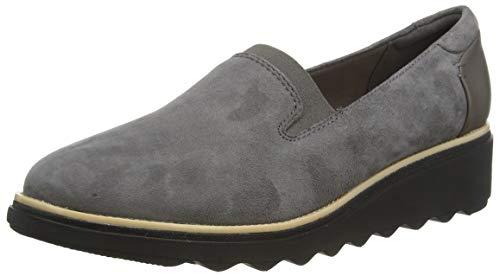 Clarks Damen Slipper, Grau (Grey Suede), 39.5 EU