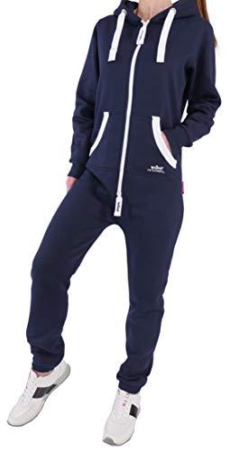 EN5 Finchgirl Damen Jumpsuit Jogging Anzug Trainingsanzug Overall Navy M