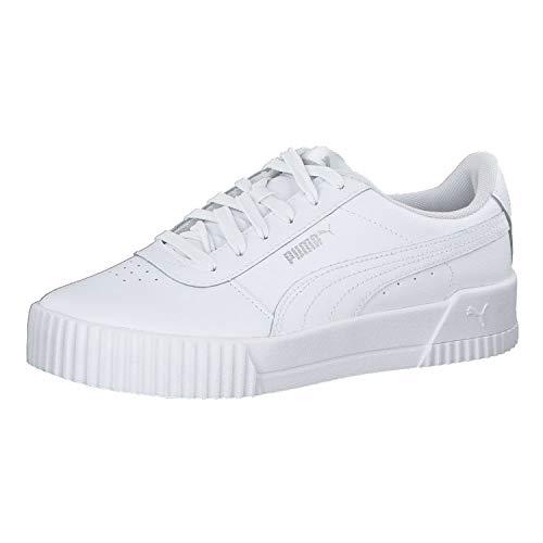 Puma Damen Carina L Niedrig, Weiß White White Silver, 42.5 EU