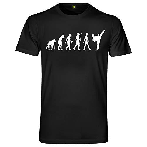 Evolution Karate T-Shirt | Kampf | Aikido | Kung Fu | Kick Boxen | Judo Schwarz XL