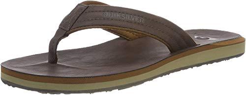 Quiksilver Herren Carver Nubuck - Sandals for Men Zehentrenner, Braun (Demitasse-Solid Ctk0), 43 EU