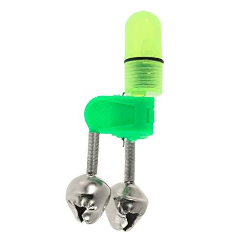 Tuzi QiuGe Angeln Alarm 10 PCS kreative Angeln Alarm LED-Doppel Glocke Angeln Zubehör bewegliche Nacht Angelrute Ring Alarm mit Lichtsignal