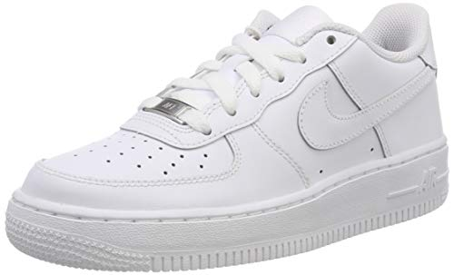 Nike Unisex-Kinder Air Force 1 (GS) Low-Top, Weiß (117 White/White-White), 40 EU