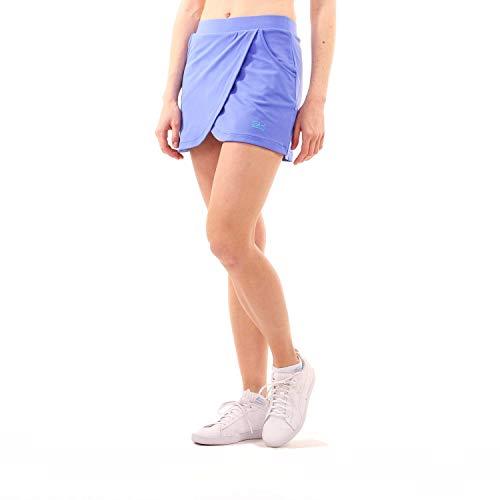 Sportkind Mädchen & Damen glockiger Tennis, Hockey, Sport Skort, Rock mit Innenhose, atmungsaktiv, UV-Schutz, Kornblumen blau, Gr. 152