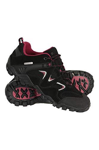 Mountain Warehouse Curlews Schuhe für Damen - Wasserfest, schnelltrocknend, Schuhe, lässig, Eva-Zwischensohle, Wanderschuhe, Laufsohle 100% Gummi - Für Wandern Schwarz 40 EU