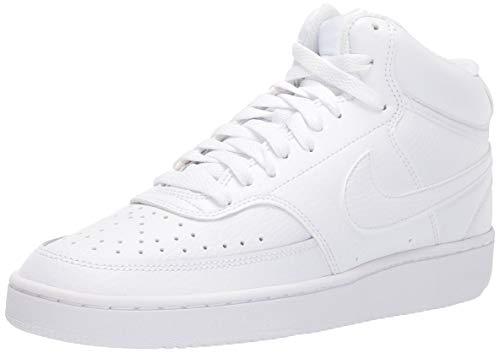 Nike Damen WMNS Court Vision MID Basketballschuh, Bianco White White White 100, 44.5 EU