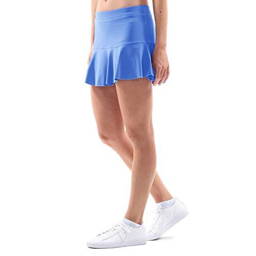 Sportkind Mädchen & Damen glockiger Tennis, Hockey Rock mit Innenhose, UV-Schutz, atmungsaktiv, Kornblumen blau, Gr. 158