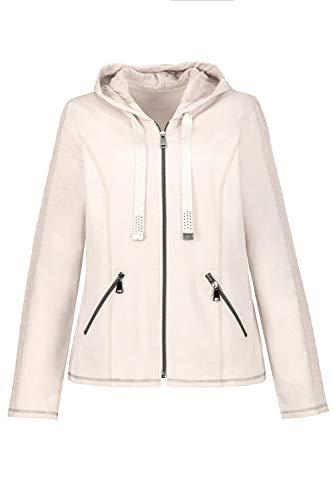 GINA LAURA Damen Zipper-Jacke mit Kapuze Kapuzenpullover, Mauve, XXL