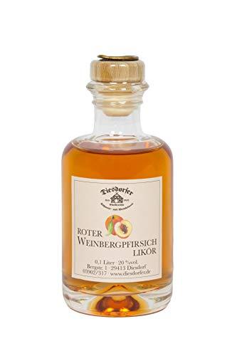 Diesdorfer Roter Weinbergpfirsichlikör 20%vol. 100 mL Glasflasche
