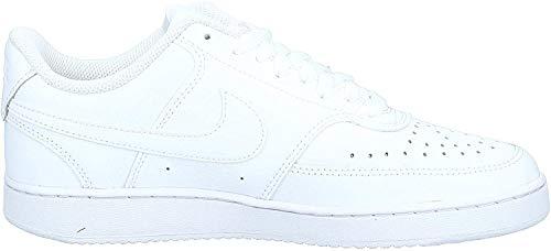 Nike Herren Court Vision Lo Basketballschuhe, Weiß (White/White-White 100), 46 EU