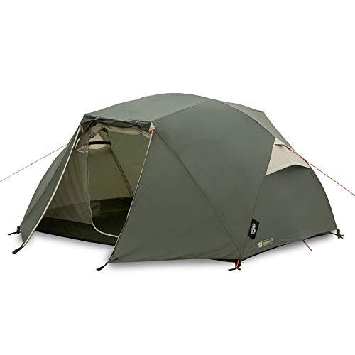 Qeedo Light Birch 3 Trekkingzelt, kleines Packmaß (53 x 18 cm), leicht (3,48 kg) - 3 Personen Campingzelt, windstabil