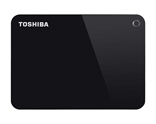 Toshiba HDTC910EK3AA Canvio Advance Tragbare Externe Festplatte USB 3.0, 1TB schwarz