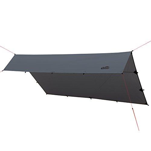 Qeedo Trekking Tarp Smart Tarp 3 x 4 m, Sonnensegel, Vielseitig, Leicht, Robust, Schnell Aufbaubar, Stabil, Camping Tarp