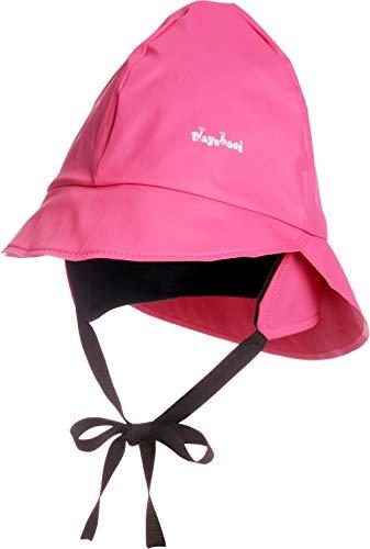 Playshoes Baby Regen-Mütze, wind- und wasserdichte Unisex-Mütze für Jungen und Mädchen mit Fleecefutter, mit Playshoes-Motiv, Rosa (18 pink), 51 cm