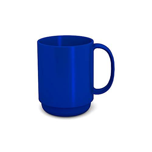 Ornamin Becher mit Henkel 300 ml blau (Modell 510) / Mehrweg-Becher Kunststoff, Kaffeebecher