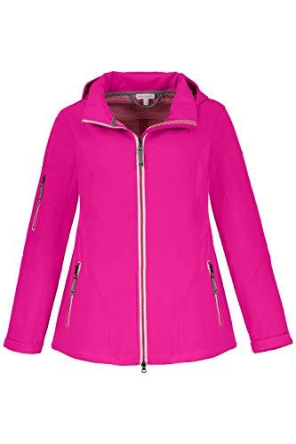 GINA LAURA Damen Softshell-Jacke, atmungsaktiv, Kapuze, 2-Wege-Zipper pink XL 719923 55-XL