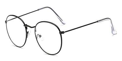 LHKQ Brille ohne stärke für Herren Damen retro John lennon brille vintage rounde brille klassisch nerd brille deko Brillenfassungen