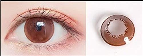HOWWO Farbige Kontaktlinsen Farblinse for Augen Bunte Halloween Cosplay Con Magic Serie, 0.00 Dioptrien (Farbe : Chocolate, Größe : 0)