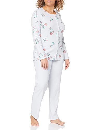 Triumph Damen Timeless Cotton PK Buttons Pyjamaset, Turtle Dove, 38