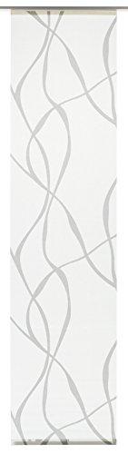 Gardinia Flächenvorhang Stoff waschbar 121 Wave weiß/grau 60 x 245 cm