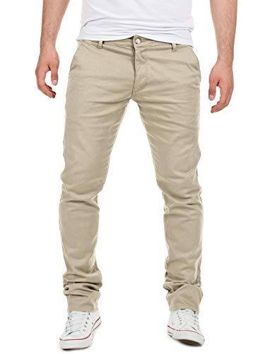 Yazubi Herren Chino Hose, Modell Dustin, Chinohose by Yzb Jeans, Beige (Plaza Taupe 161105), W36/L38