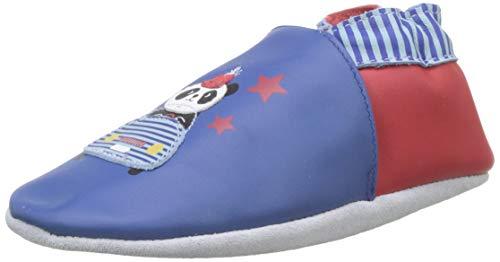 Robeez Baby Jungen Panda Auto Flache Hausschuhe, Blau (Bleu Foncé Klein 52), 21/22 EU