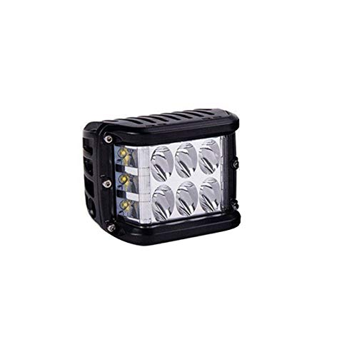 1 Stück Ultrahochhelle Dual Side Shooter Led Strobe Cree Pods Light Zweifarbige, Auto Led Scheinwerfer Arbeitsscheinwerfer, Für Traktor, Auto, Offroad, SUV, LED Strahler LKW (Weiß Gelb)