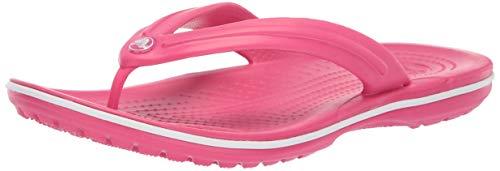 Crocs Unisex Crocband Flip, Paradise Pink/White, 41/42 EU