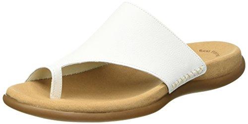 Gabor Damen Jollys Sandalen, Weiß (Blanc Leather), 42 EU