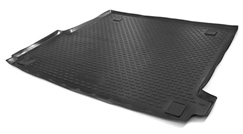 kh Teile Kofferraumwanne passend für Golf 7 VII Variant - Antirutsch Schutzwanne Kofferraum Wanne, 3D, Hoher Rand, Schwarz, Geruchsneutral