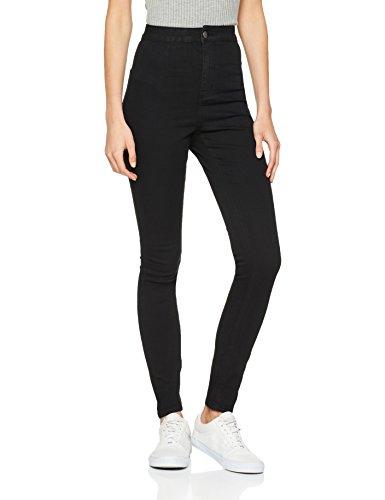 Noisy may Damen Nmella Super Hw Gu304 Jeans, Schwarz, 34W / 32L