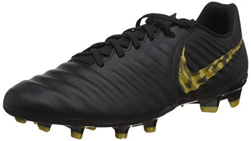 Nike Herren Legend 7 Academy Fg Fußballschuhe, Schwarz (Black/Mtlc Vivid Gold 077), 42 EU