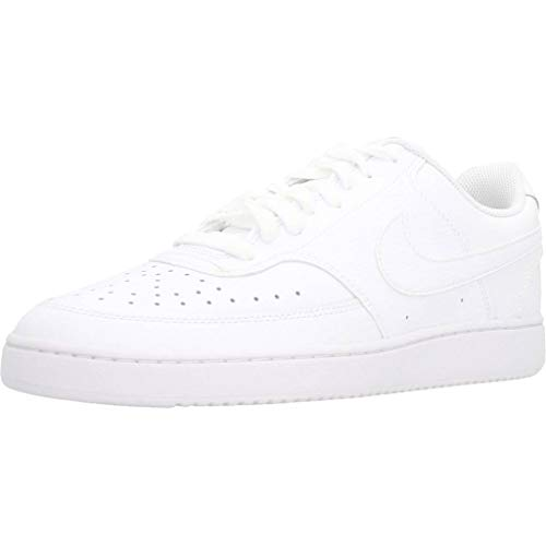 Nike Herren Court Vision Lo Basketballschuhe, Weiß (White/White-White 100), 44.5 EU