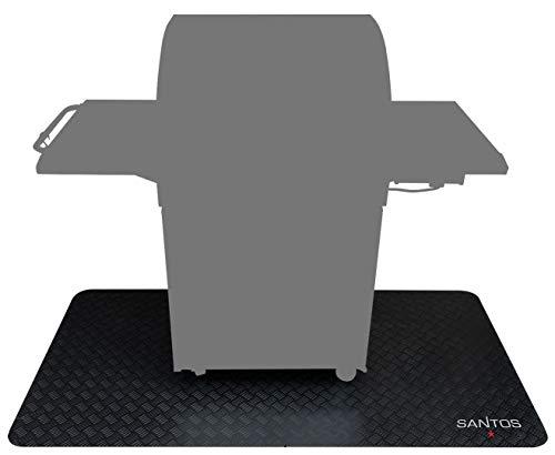 Santos Grillmatte, Grill-Unterlage und Boden-Schutzmatte für Gasgrills, outdoor geeignet, Größe: 140 x 100 cm