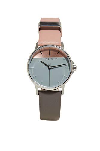 Esprit Damen Analog Quarz Uhr mit Leder Armband ES1L065L0015