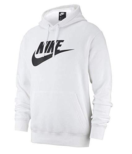 Nike Herren Sweatshirt M NSW Club Hoodie PO BB GX, White/White/(Black), L, BV2973