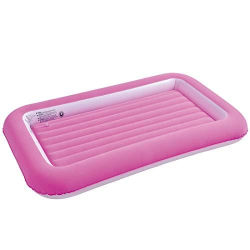 Jilong Kinder Campingbett Safety Pink 152x89x18 Velour Luftmatratze Luftbett Gästebett Reisebett
