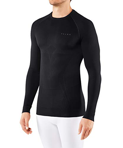 FALKE Herren Maximum Warm Tight Fit M L/S SH Baselayer-Shirt, Schwarz (Black 3000), L