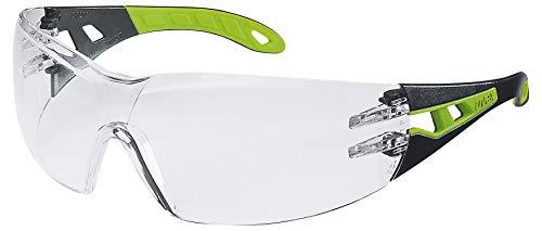 Uvex Pheos Schutzbrille - Supravision Excellence - Transparent/Schwarz-Grün